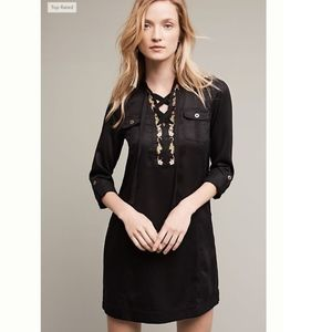 NWOT Anthrop. HOLDING HORSES Black Shirtdress